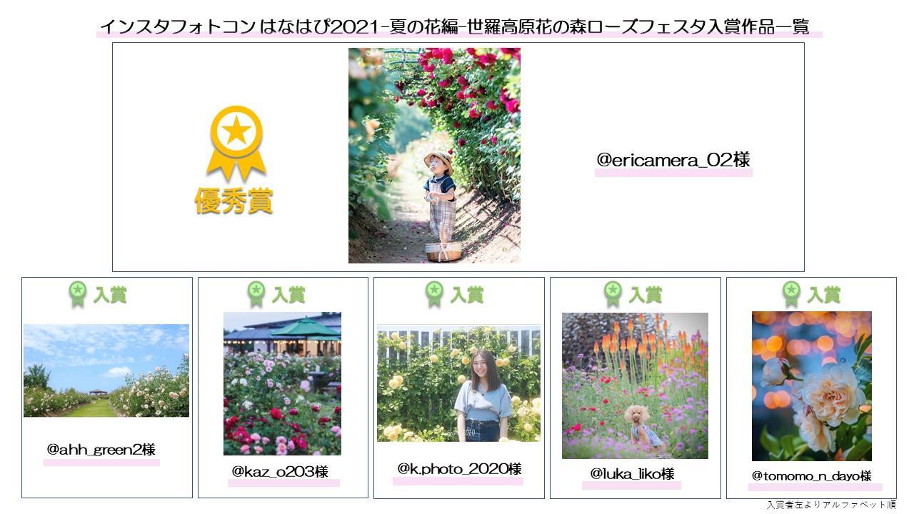 インスタフォトコン はなはぴ2021-夏の花編-結果発表!